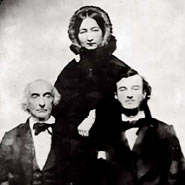 Historic picture of woman and two men